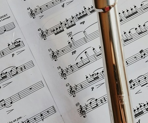 flute, music, and love image