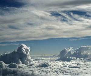 clouds, sky, and lion image