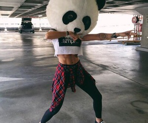 girl, panda, and outfit image