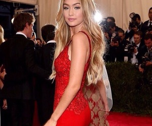 gigi hadid, dress, and hair image
