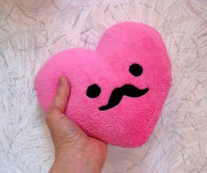 girl, hearts, and pink image
