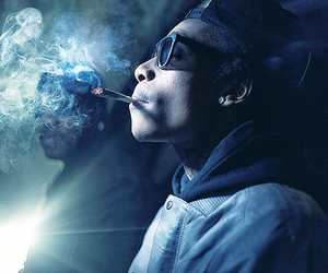 wiz khalifa, smoke, and weed image