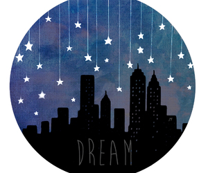 Dream, city, and stars image