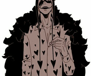 corazon, one piece, and anime image