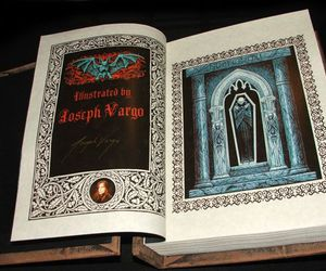 book design, Dracula, and illustration image