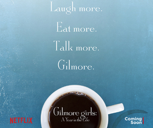 gilmore girls, coffee, and netflix image