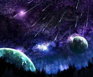 stars, space, and planet image