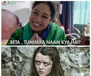arya stark, game of thrones, and marriage troll image
