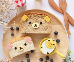 bread, food, and rilakkuma image
