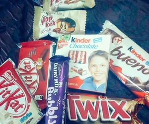 kinder, kitkat, and Twix image