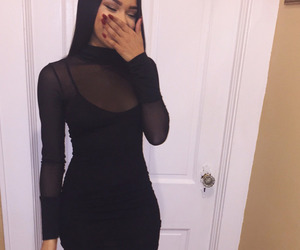 dress, black, and girl image