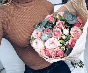 flowers, fashion, and rose image