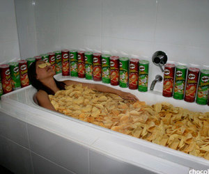chips, funny, and lol image