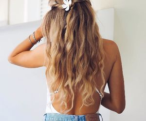 hair, hairstyle, and summer image