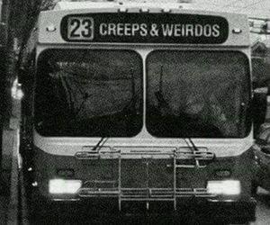 grunge, bus, and weirdo image