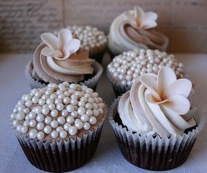 cupcake, flower, and food image