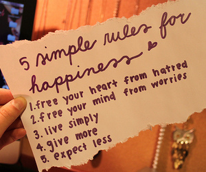 happiness, quote, and rules image