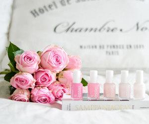 flowers, nail polish, and pink image