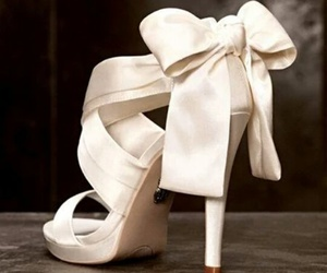shoes, wedding, and bow image
