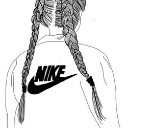 girl, outline, and nike image