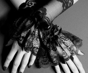 black, gothic, and lace image