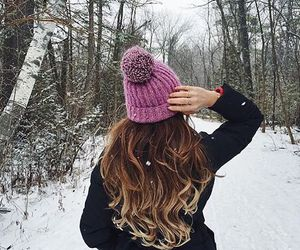 girl, beautiful, and cold image
