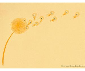 lion and dandelion image