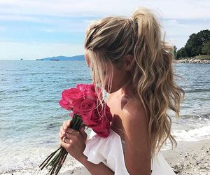 fashion, flower, and summer image