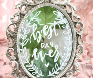 etsy, vintage mirror, and gold wedding image