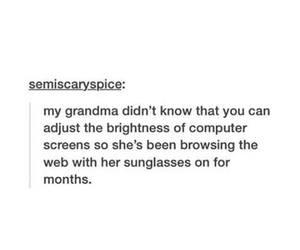 funny, computer, and grandma image