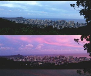 city, morning, and sunset image