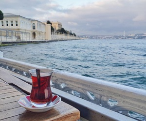 photography, sea, and tea cup image