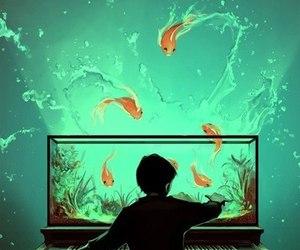 aquarium, color, and piano image