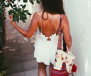 beauty, clothes, and spring fashion image