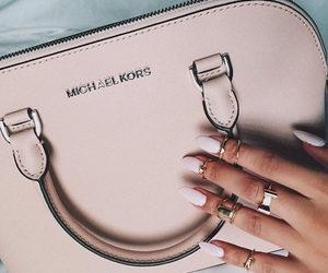 bag, nails, and Michael Kors image