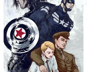 captain america, steve rogers, and bucky barnes image