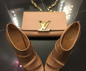 color, heels, and Louis Vuitton image