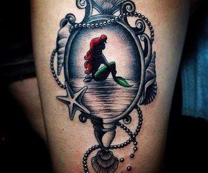 tattoo, disney, and mermaid image