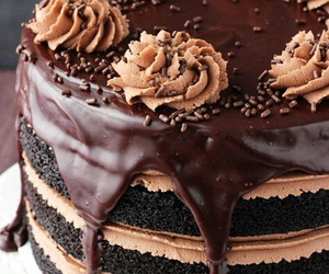chocolate, cake, and dessert image