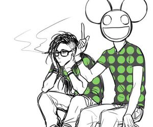 deadmau5, skrillex, and music image