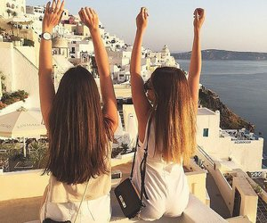 bff, girls, and Greece image