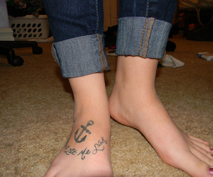 anchor, tattoo, and dont let me sink image
