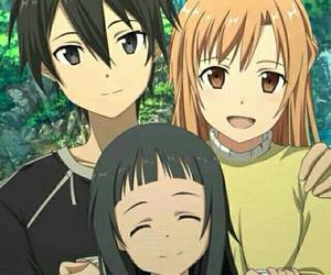 anime, kirito, and family image