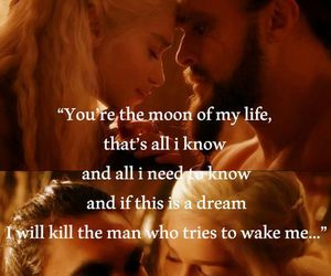 game of thrones, love, and khaleesi image