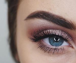 eye makeup and pink image