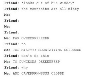 the hobbit, misty mountains, and an anexpected journey image