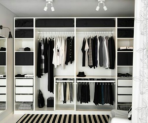 closet, clothes, and black image