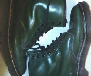 dr martens, green, and morado image