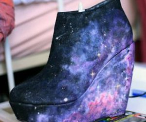 blue, chic, and galaxy image
