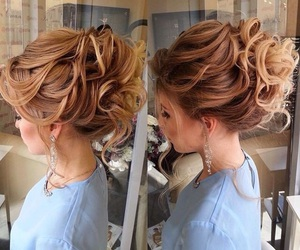bride, wedding, and hairstyle image